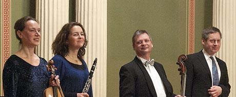 """Anja Starke, Uwe Stahlbaum, Dorothea Vogel und Jens Marggraf sind das Kammerensemble """"Talea"""" aus Halle"""